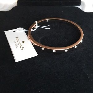 NWT Kate Spade ♠️ Stone Hinged Rose Gold Bracelet